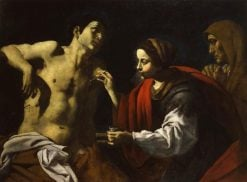 Saint Sebastian is Healed by Saint Irene | Giovanni Battista Caracciolo | Oil Painting