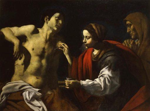Saint Sebastian is Healed by Saint Irene | Giovanni Battista Caracciolo | Oil Painting