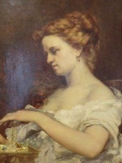La femme aux bijoux (The Woman with Jewels) | Gustave Courbet | Oil Painting