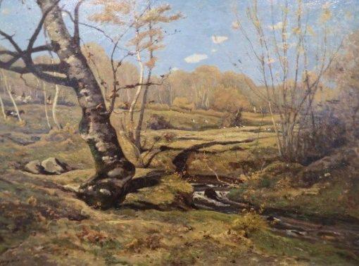 Chasse a courre | Henri Joseph Harpignies | Oil Painting
