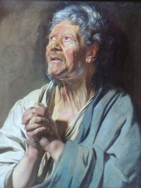 Study of a Head (Abraham Graphius)   Jacob Jordaens   Oil Painting