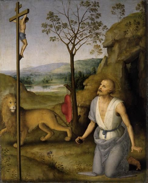 Saint Jerome in the Desert | Perugino | Oil Painting