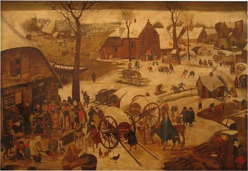 The Payment of Tithing | Pieter Brueghel the Younger | Oil Painting