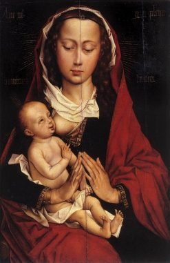 Virgin and Infant (left wing of Laurent Froimont Dyptych) | Rogier van der Weyden | Oil Painting