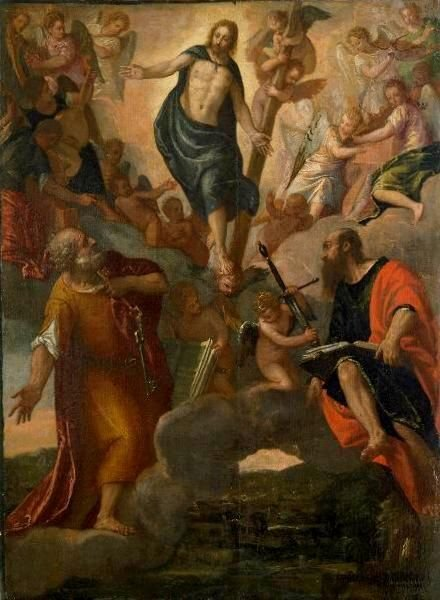 The Christ in Glory with Sts. Peter and Paul | Veronese | Oil Painting