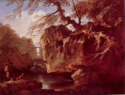 Landscape with Waterfall | Claude Joseph Vernet | Oil Painting
