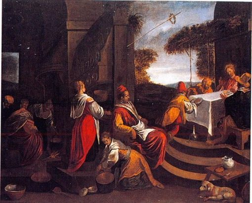 Jesus and His Disciples at Emmaus | Jacopo Bassano | Oil Painting
