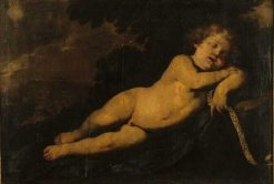 The Infant Jesus Sleeping | Andrea Vaccaro | Oil Painting