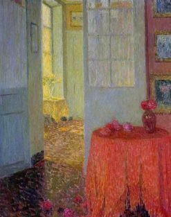 The Red Tablecloth | Henri Le Sidaner | Oil Painting