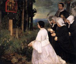 The Shrine | Alphonse Legros | Oil Painting
