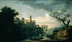 The Tiber and Mount Aventine | Claude Joseph Vernet | Oil Painting