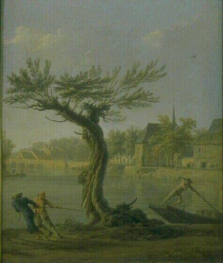 Les Haleurs | Claude Joseph Vernet | Oil Painting