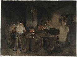 La forge | Francois Bonvin | Oil Painting