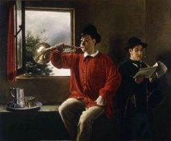 Les Sonneurs de cor | Francois Bonvin | Oil Painting