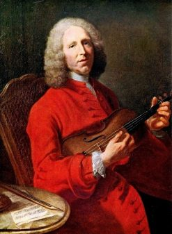 Jean-Philippe Rameau with Violin | Jacques AndrE Joseph Aved | Oil Painting