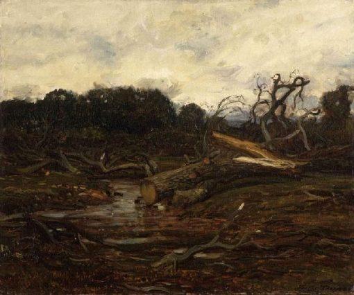 L'Abattage des arbres | Jules DuprE | Oil Painting