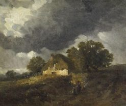 Chaumiere a Becquigny | Jules DuprE | Oil Painting