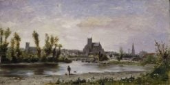View of Auxerre | Jules Jacques Veyrassat | Oil Painting