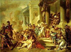 Anthiochos IV Epiphanes Orders the Massacre of the Maccabees   Michel Francois DandrE Bardon   Oil Painting