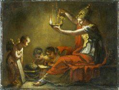Minerve éclairant les Sciences et les Arts (study) | Pierre Paul Prud'hon | Oil Painting