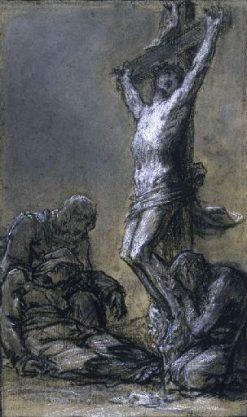 Christ en croix (study) | Pierre Paul Prud'hon | Oil Painting