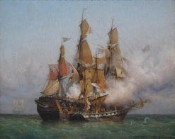 Abordage du Kent | Louis Garneray | Oil Painting