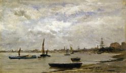 The Mouth of the Thames | Charles Francois Daubigny | Oil Painting