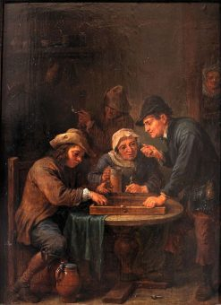 Trictrac Players | David Teniers II | Oil Painting
