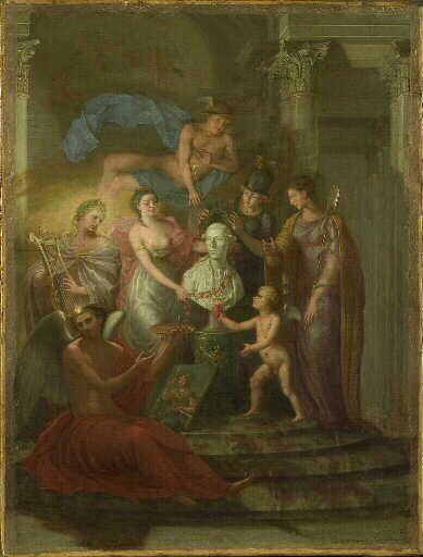 Apothéose du baron de Joursanvault   Pierre Paul Prud'hon   Oil Painting