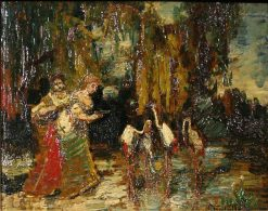 The Flamingoes | Adolphe Joseph Thomas Monticelli | Oil Painting
