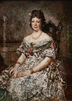 Portrait of Madame Pascal | Adolphe Joseph Thomas Monticelli | Oil Painting