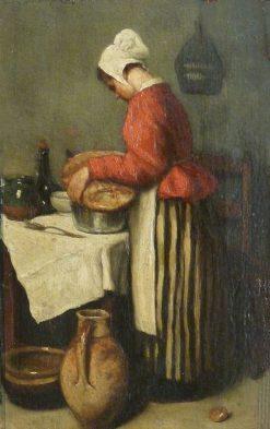 La tailleuse de soupe | Francois Bonvin | Oil Painting