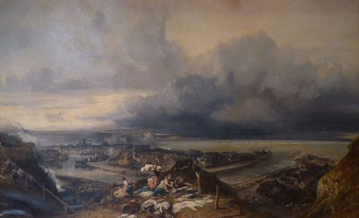 La ville and le port de Dieppe (The Town and Port of Dieppe) | Eugene Isabey | Oil Painting