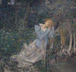 Ophelia (Ophélie) (unfinished) | Jules Bastien Lepage | Oil Painting