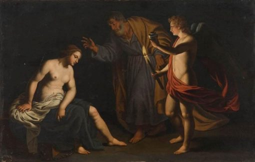 Visit of Saint Agatha in Prison by Saint Peter and an Angel | Alessandro Turchi | Oil Painting