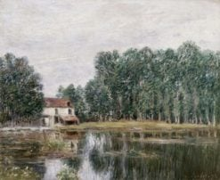 Banks of the Loing | Alfred Sisley | Oil Painting