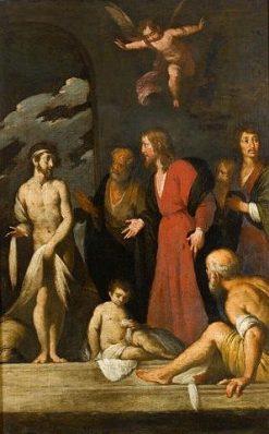 La guérison du paralytique | Bernardo Strozzi | Oil Painting