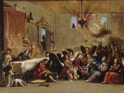 Le lavement des pieds (The Washing of Feet) | Claude Vignon | Oil Painting