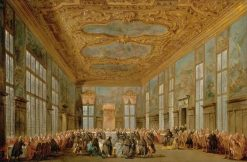 Dinner for Ambassadors Hosted by the Doge of Venice | Francesco Guardi | Oil Painting