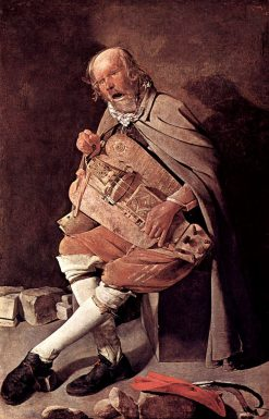The Hurdy-Gurdy Player | Georges de La Tour | Oil Painting