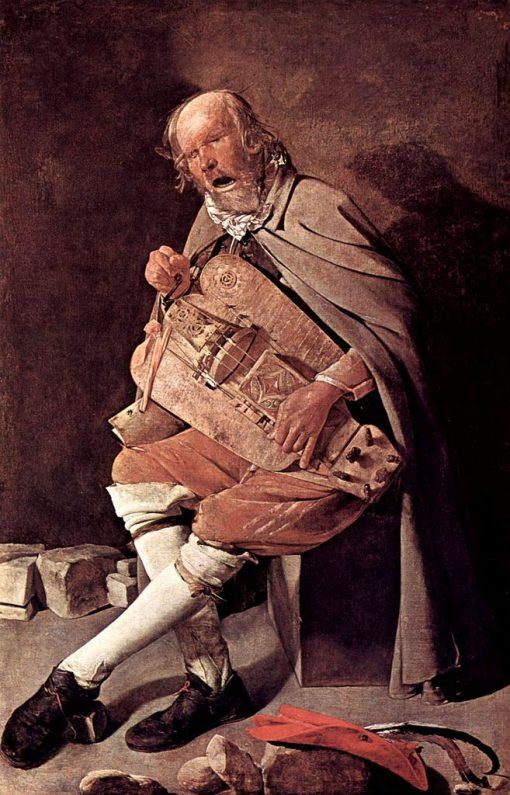 The Hurdy-Gurdy Player | Georges de La Tour | Oil Painting