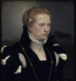 Portrait of an Unknown Woman | Giovanni Battista Moroni | Oil Painting