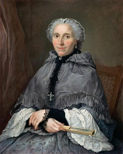 Portrait of a Lady in Grey | Jacques AndrE Joseph Aved | Oil Painting