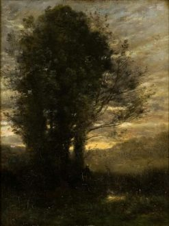 Sunset after Rain | Jean Baptiste Camille Corot | Oil Painting