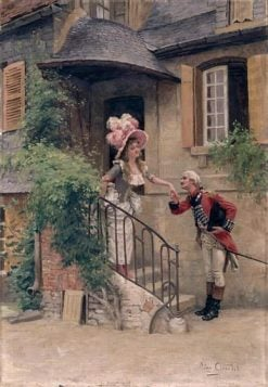 The Kissing Hand(also known as La baiser-main) | LEon Girardet | Oil Painting