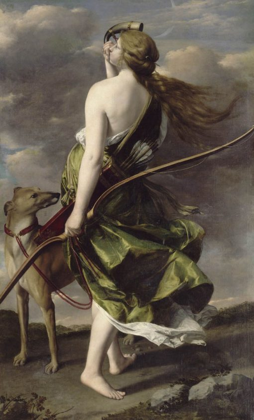 Diana the Huntress   Orazio Gentileschi   Oil Painting