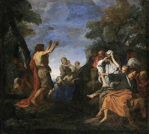Foretelling of Saint John the Baptist   Carlo Maratta   Oil Painting