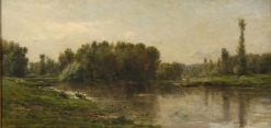 Riverbank of the Oise | Charles Francois Daubigny | Oil Painting