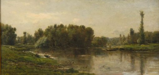 Riverbank of the Oise   Charles Francois Daubigny   Oil Painting