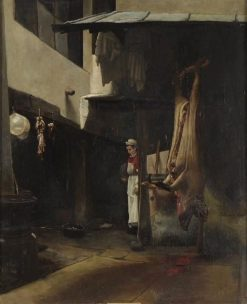 Cour de charcutier (Corner in a Butcher Shop) | Francois Bonvin | Oil Painting